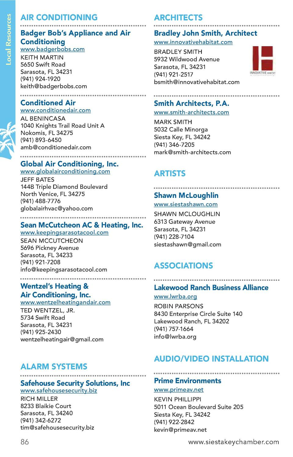 Local Resources  AIR CONDITIONING  ARCHITECTS  Badger Bob   s Appliance and Air Conditioning  Bradley John Smith, Architec...