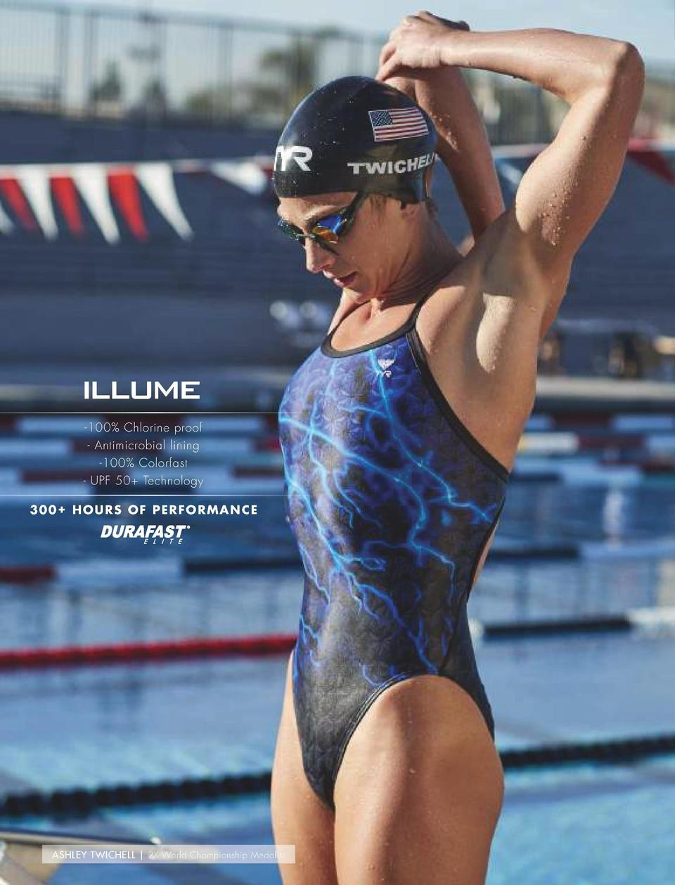 PRINTS PRINTS  NEW  ILLUME     300  Hours of performance     100  Chlorine proof     Antimicrobial lining     100  Colorfa...