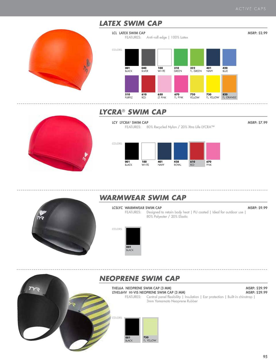 SWIM CAPS  ACTIVE CAPS  LONG HAIR WRINKLE-FREE SILICONE SWIM CAP LCSL LONG HAIR WRINKLE-FREE SILICONE SWIM CAP  MSRP   10....
