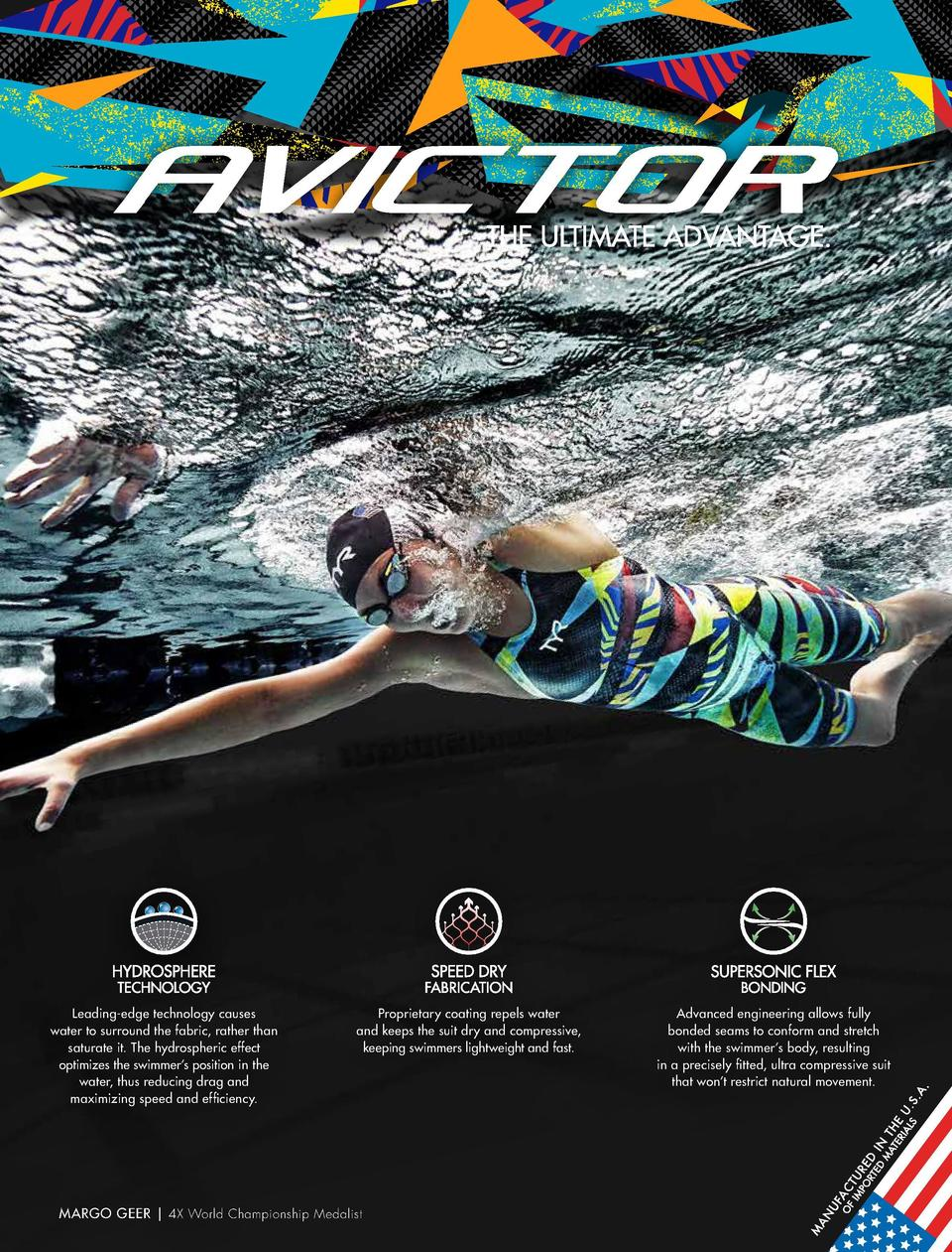 TECHNICAL SWIM  AVICTOR PRELUDE APFC6 WOMEN   S AVICTOR PRELUDE CLOSED BACK  MSRP   479.99   SIZE   20, 22, 23, 24, 25, 26...