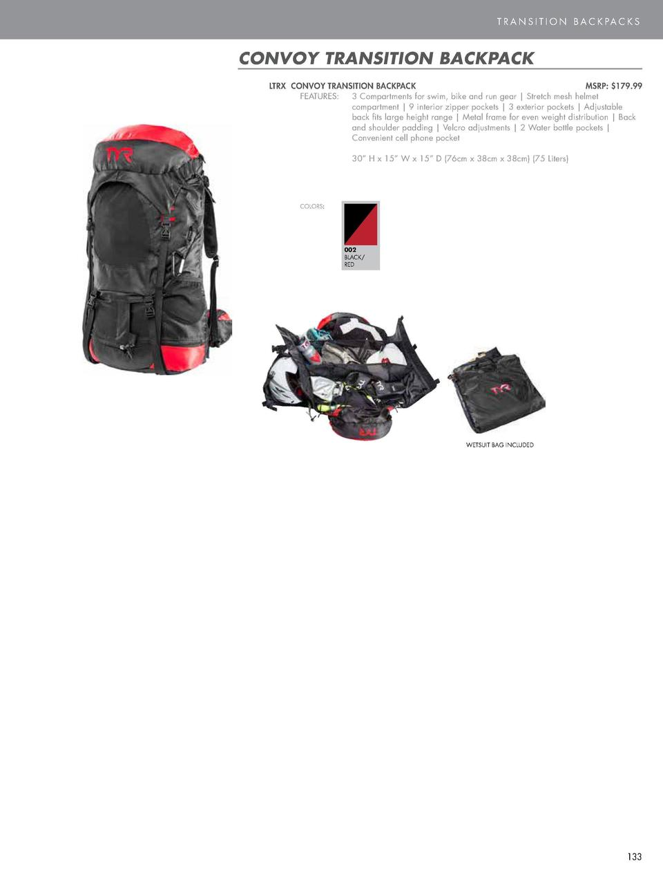 BAGS  T R A N S I T I O N B A C K PA C K S  APEX BACKPACK  CONVOY TRANSITION BACKPACK  LTRIBP APEX BACKPACK    MSRP   99.9...