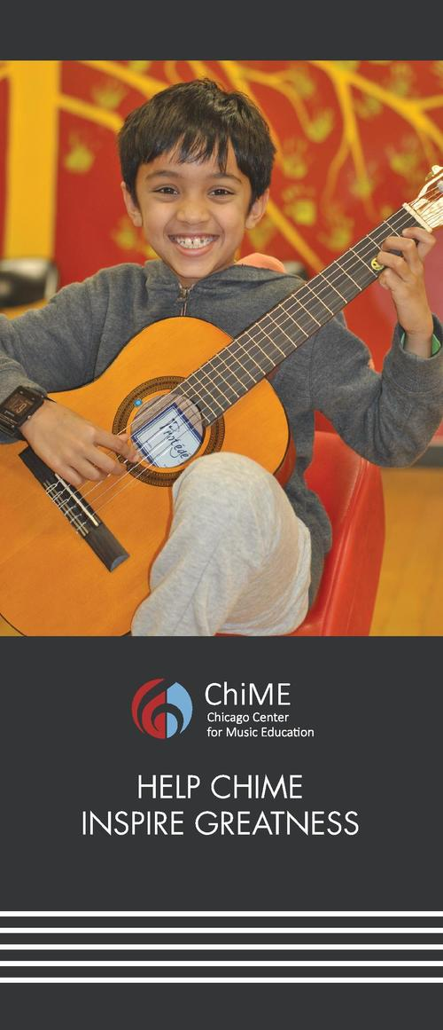 MISSION  The Chicago Center for Music Education  ChiME  provides an exceptional music education to a diverse community as ...