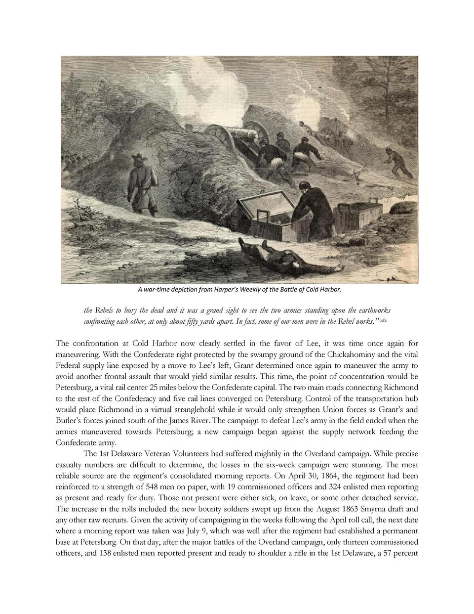 A war-time depiction from Harper   s Weekly of the Battle of Cold Harbor.  the Rebels to bury the dead and it was a grand ...