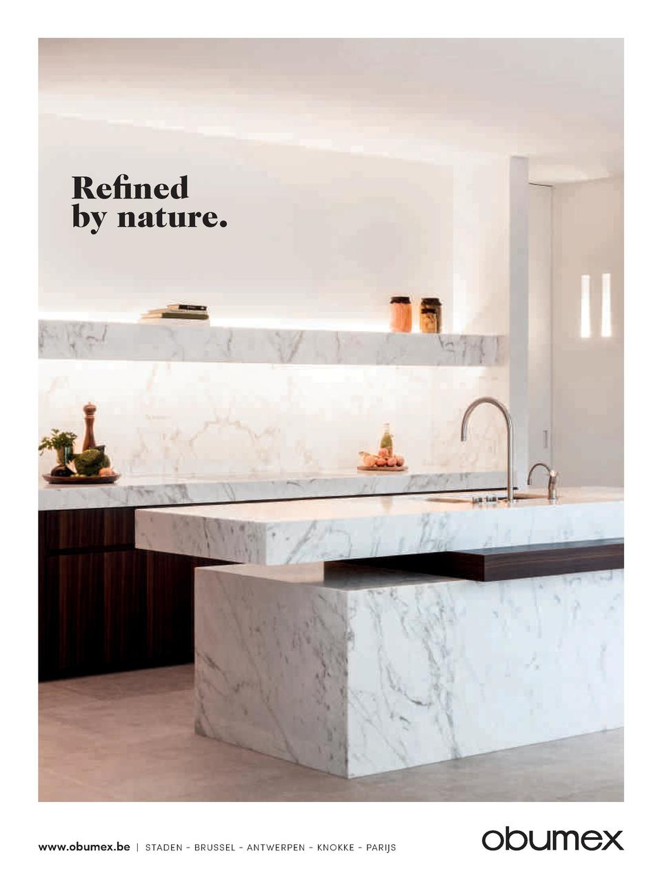 Refined by nature.  www.obumex.be    STADEN - BRUSSEL - ANTWERPEN - KNOKKE - PARIJS
