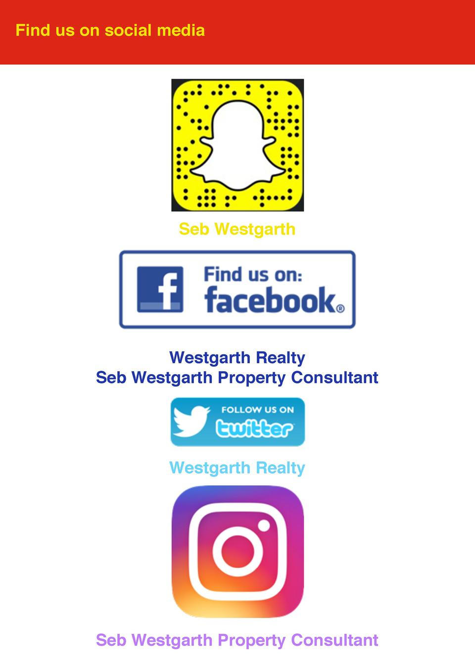 Find us on social media  Seb Westgarth  Westgarth Realty Seb Westgarth Property Consultant  Westgarth Realty  Seb Westgart...