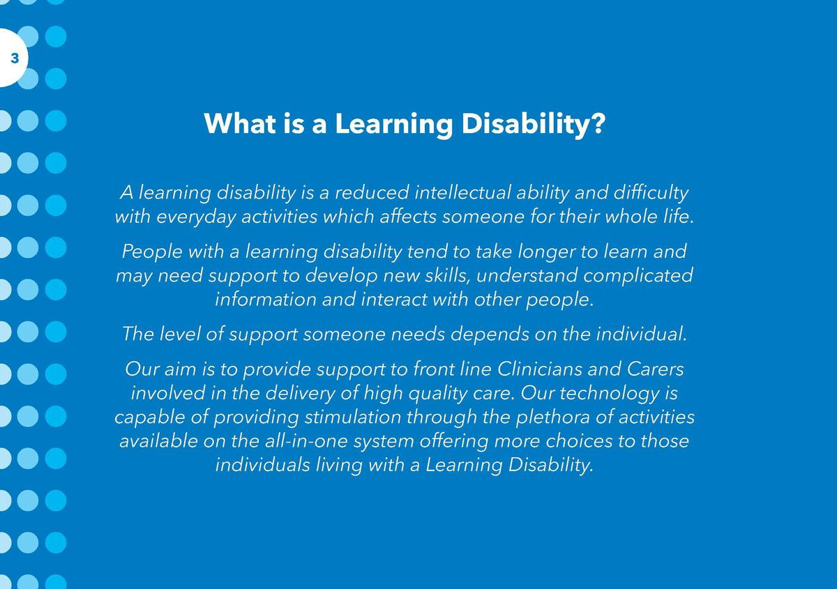 4  3  Contents  What is a Learning Disability  A learning disability is a reduced intellectual ability and difficulty with...