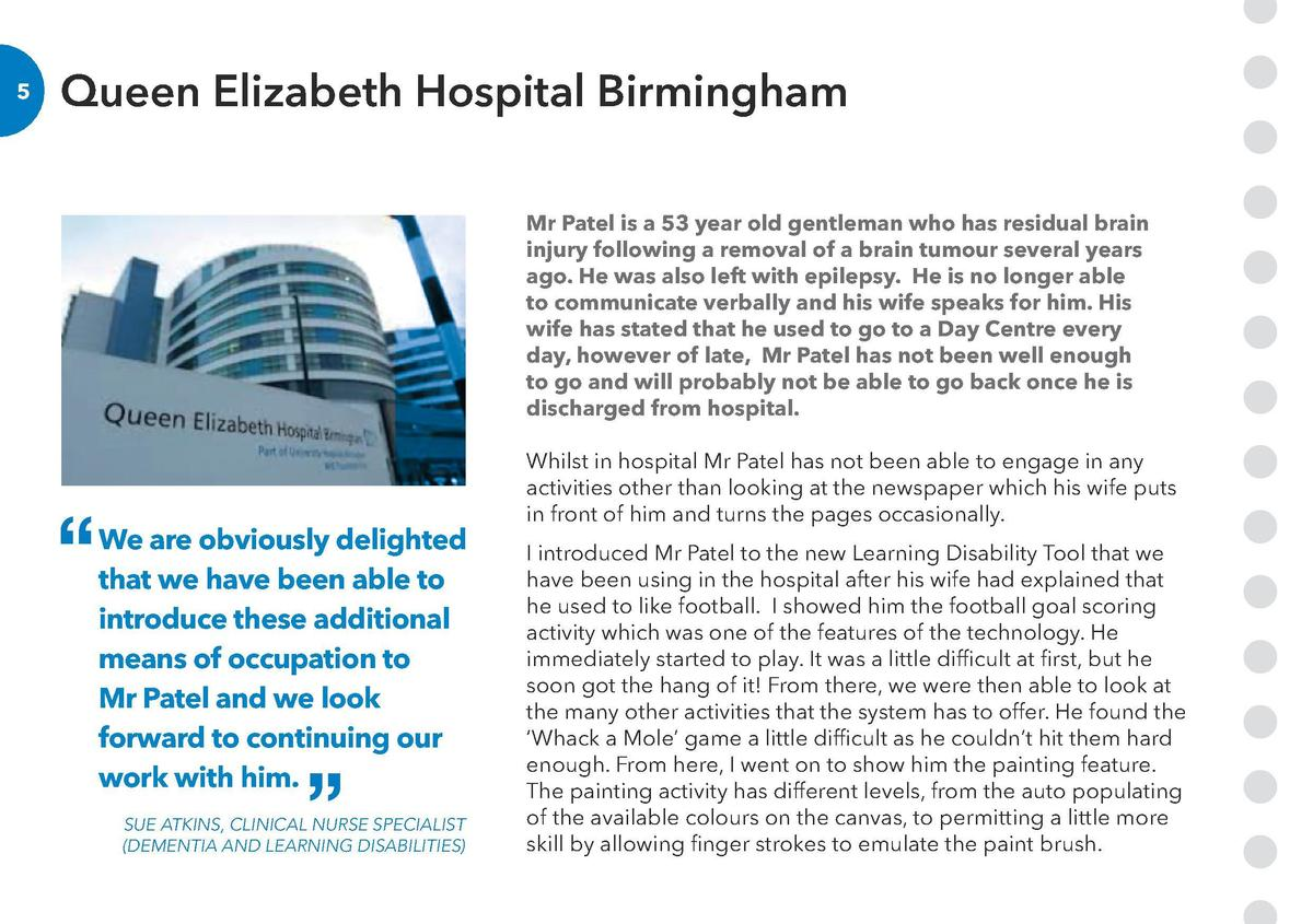 Queen Elizabeth Hospital Birmingham  6  Mr Patel is a 53 year old gentleman who has residual brain injury following a remo...