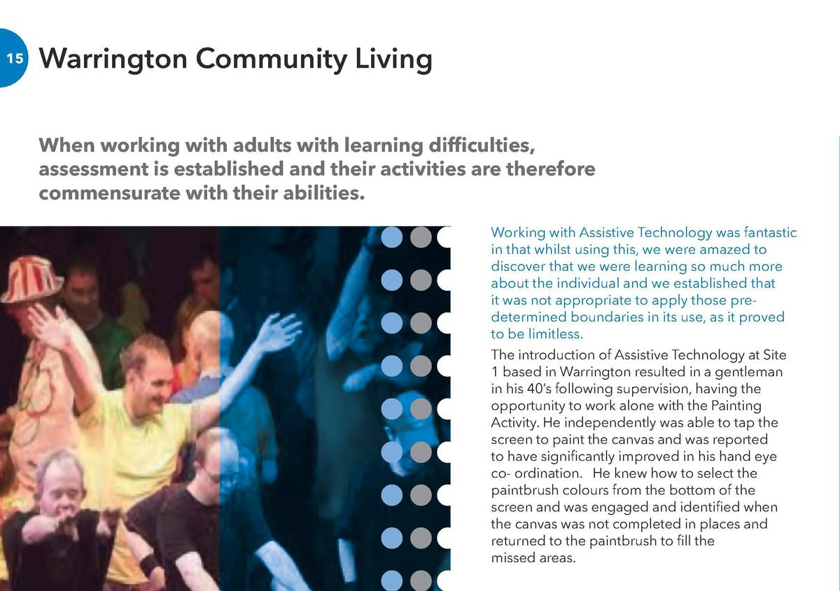 Warrington Community Living  16  When working with adults with learning difficulties, assessment is established and their ...