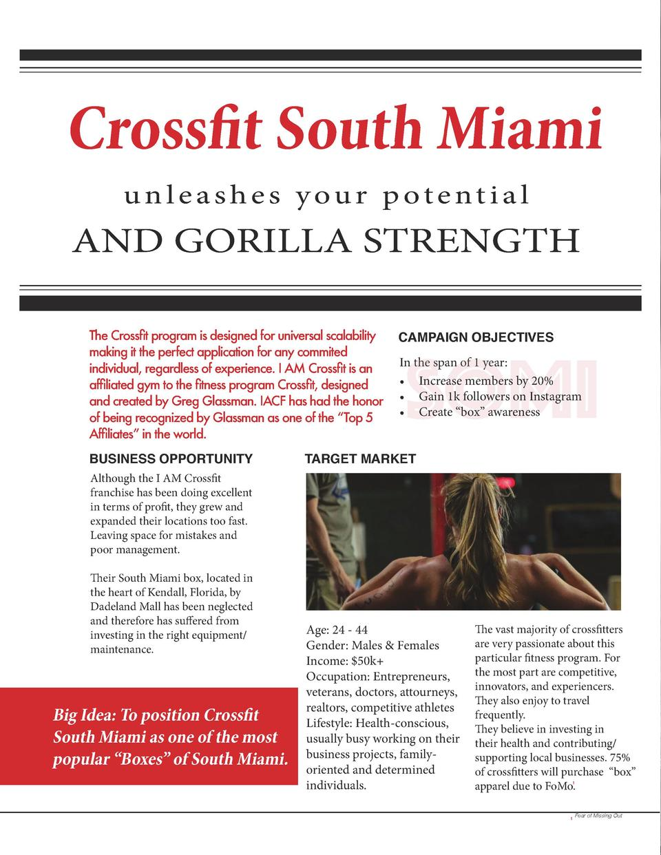 Crossfit South Miami unleashes your potential  AND GORILLA STRENGTH The Crossfit program is designed for universal scalabi...