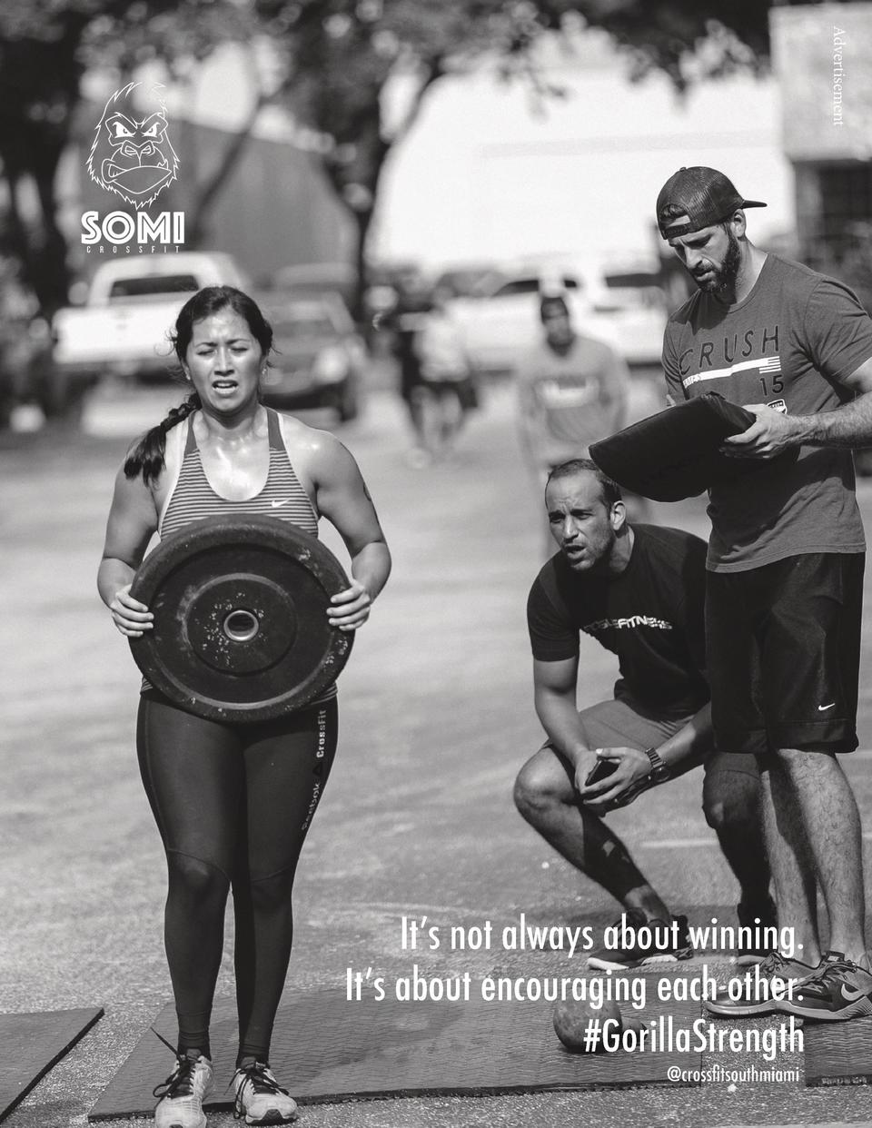 Advertisement  It   s not always about winning. It   s about encouraging each other.  GorillaStrength  crossfitsouthmiami ...