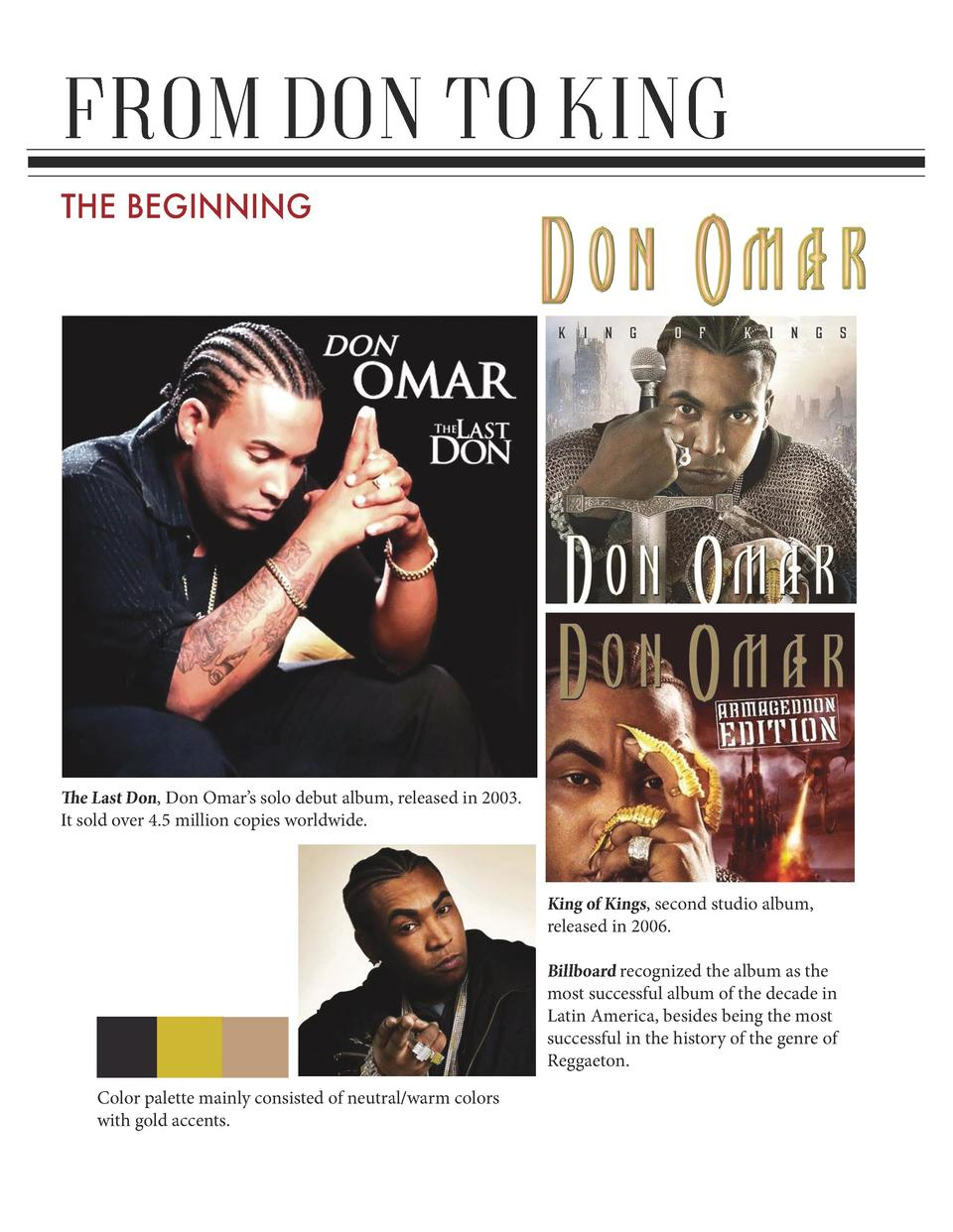 FROM DON TO KING THE BEGINNING  The Last Don, Don Omar   s solo debut album, released in 2003. It sold over 4.5 million co...