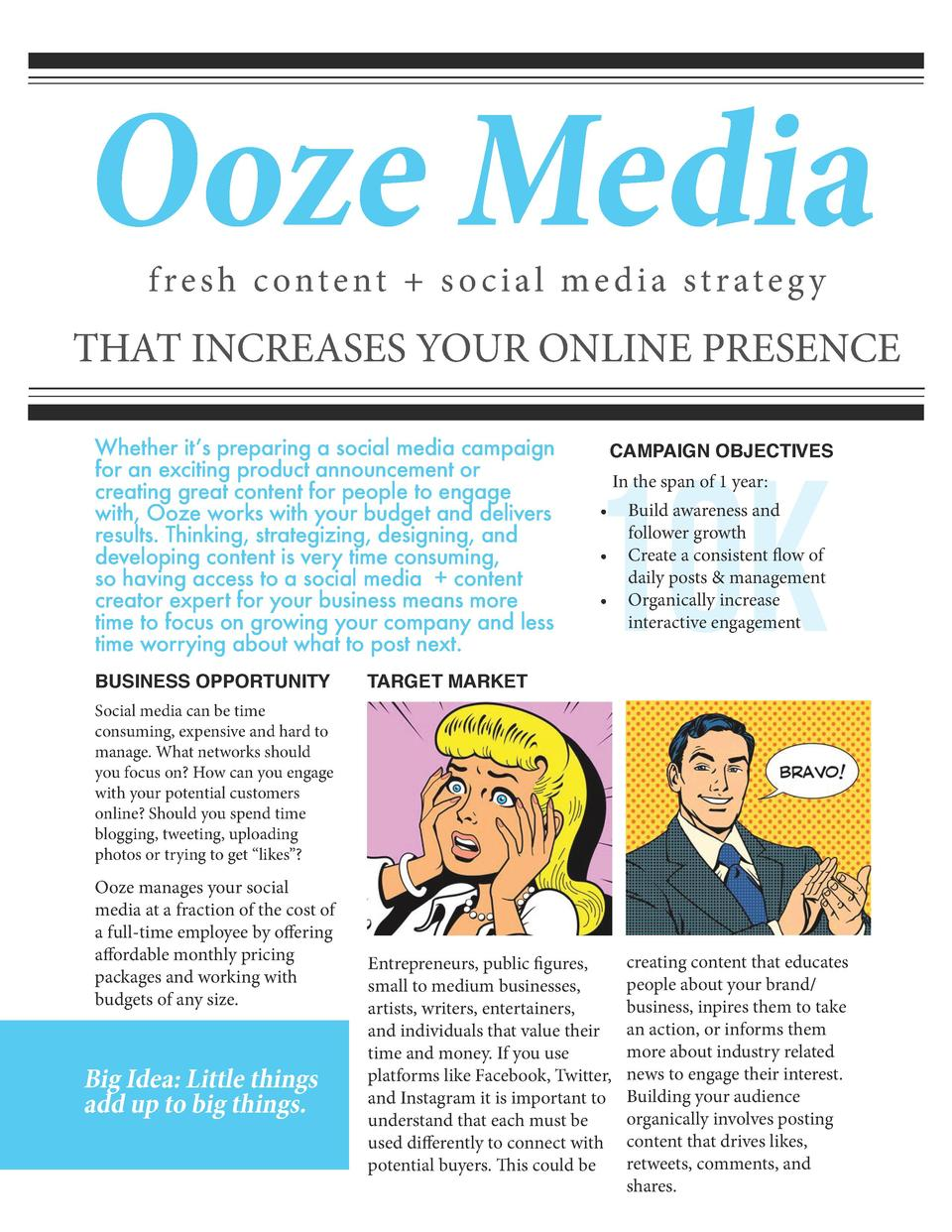 Ooze Media fresh content   social media strateg y  THAT INCREASES YOUR ONLINE PRESENCE Whether it   s preparing a social m...