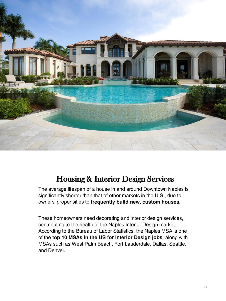 Housing   Interior Design Services The average lifespan of a house in and around Downtown Naples is significantly shorter ...