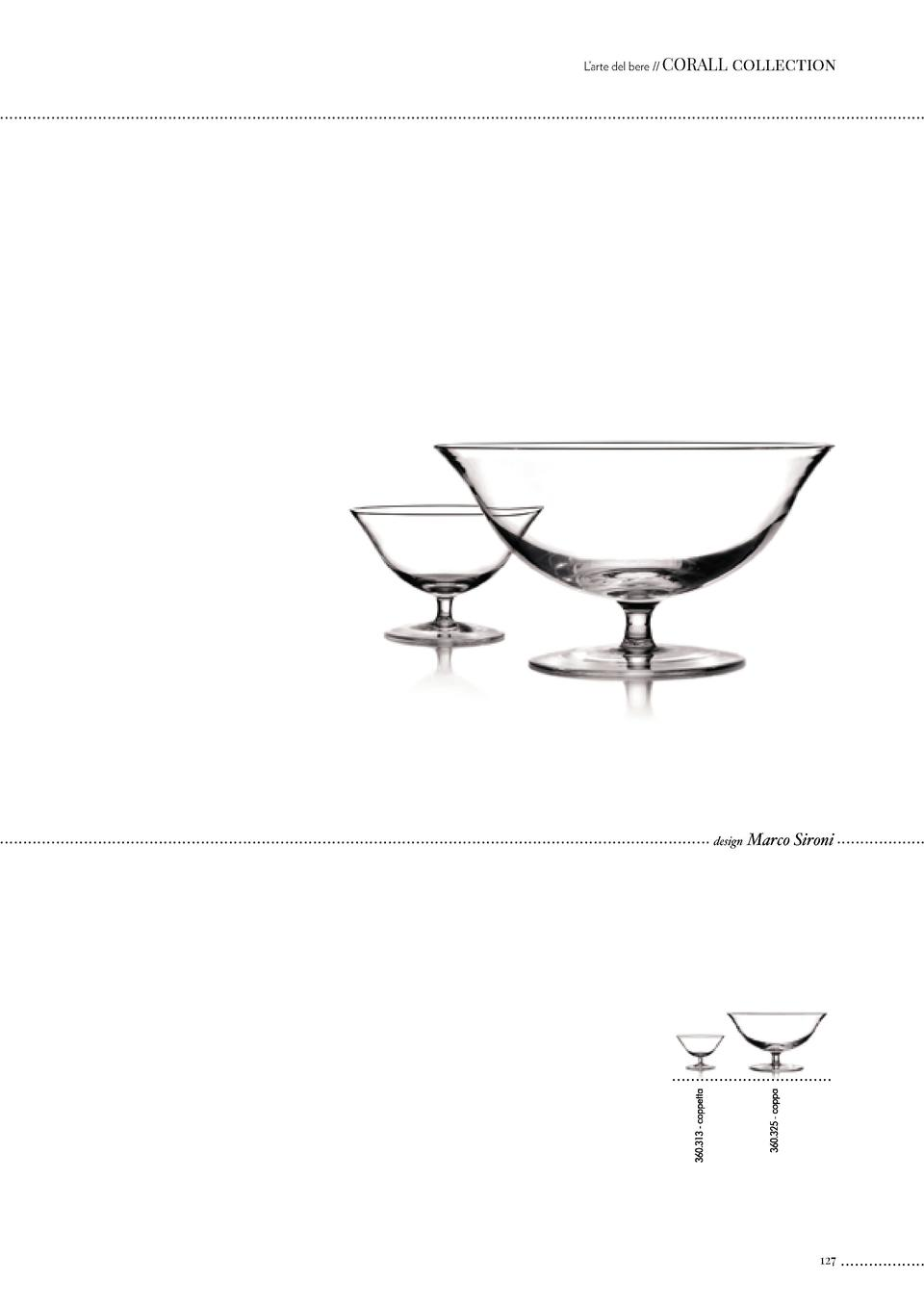 L   arte del bere    CORALL  collection  design  Marco Sironi  127