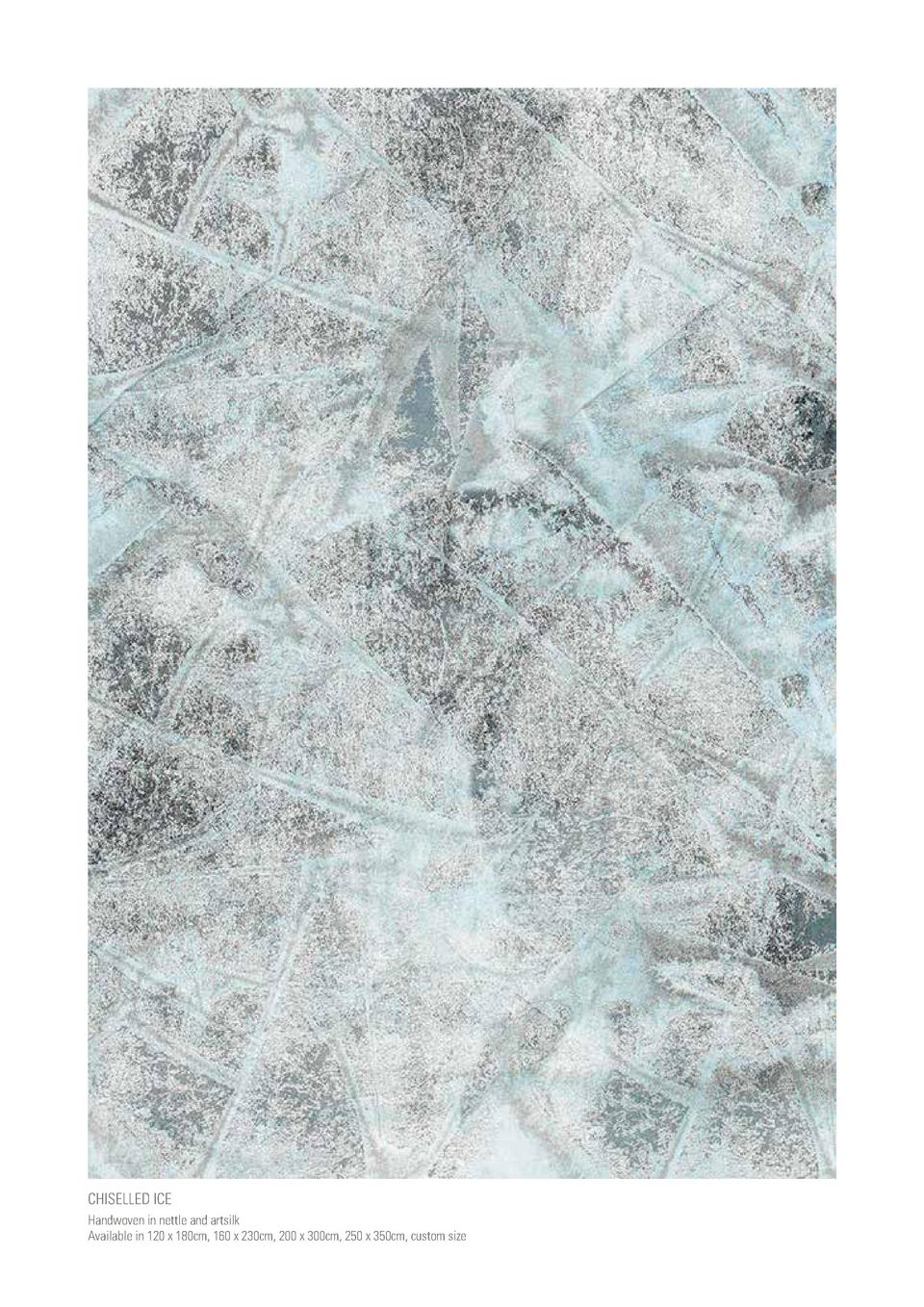 CHISELLED ICE Handwoven in nettle and artsilk Available in 120 x 180cm, 160 x 230cm, 200 x 300cm, 250 x 350cm, custom size...