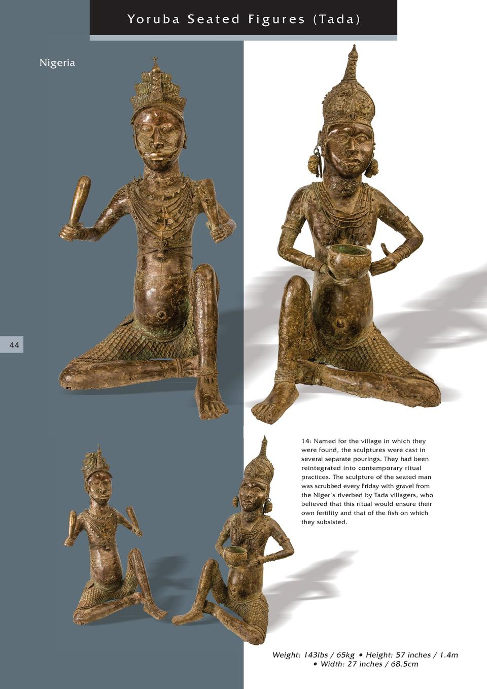 Yoruba Seated Figur es  Tada  Nigeria  44  14  Named for the village in which they were found, the sculptures were cast in...