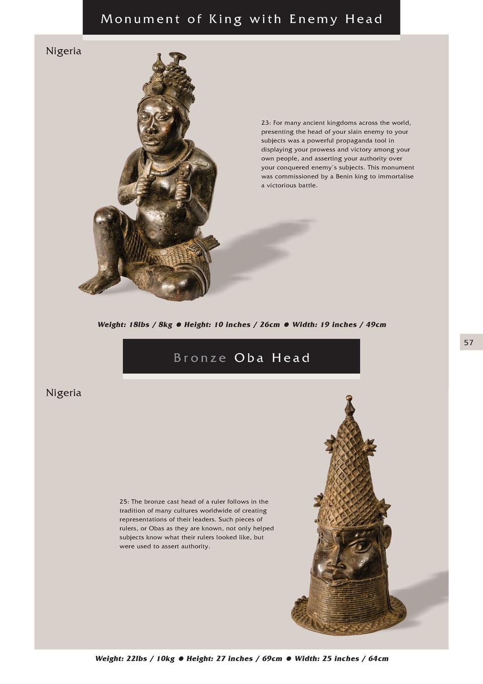 Monument of King with Enemy Head Nigeria  23  For many ancient kingdoms across the world, presenting the head of your slai...