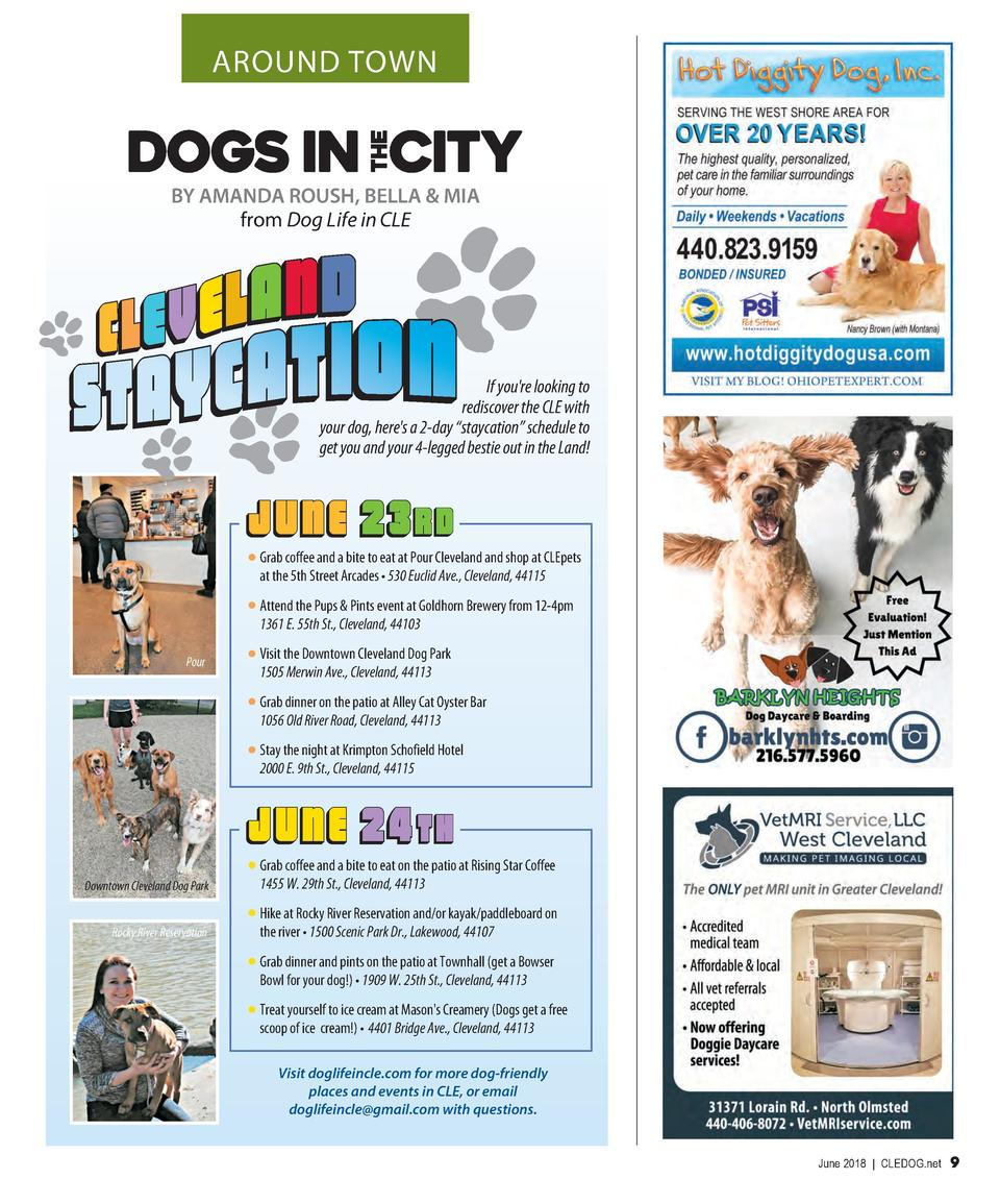 AROUND TOWN  BY AMANDA ROUSH, BELLA   MIA from Dog Life in CLE  If you re looking to rediscover the CLE with your dog, her...