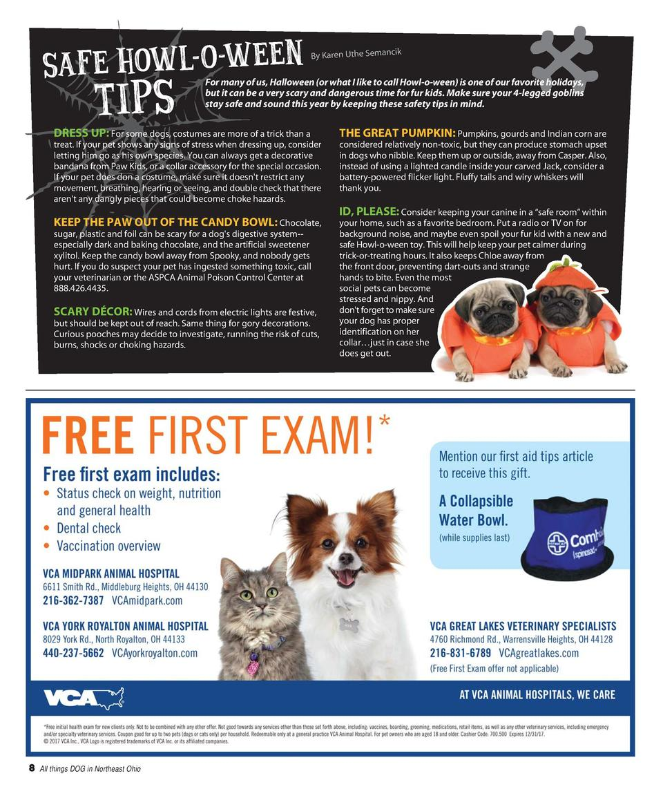 SAFE HOWL-O -WEEN  TIP S  By Karen Uthe Semancik  For many of us, Halloween  or what I like to call Howl-o-ween  is one of...