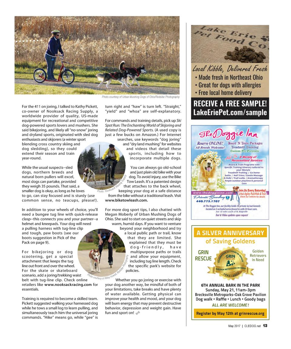 Photo courtesy of Urban Mushing Dogs of Ohio Redsibe Photography  For the 411 on joring, I talked to Kathy Pickett, co-own...