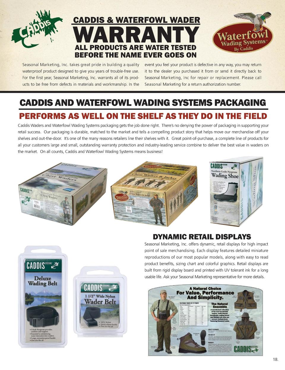 Caddis   Waterfowl Wader  KEY FIT POINTS Men   s Breathable Stockingfoot wader Key Fit Points FOR APPROXIMATE FIT  Caddis ...