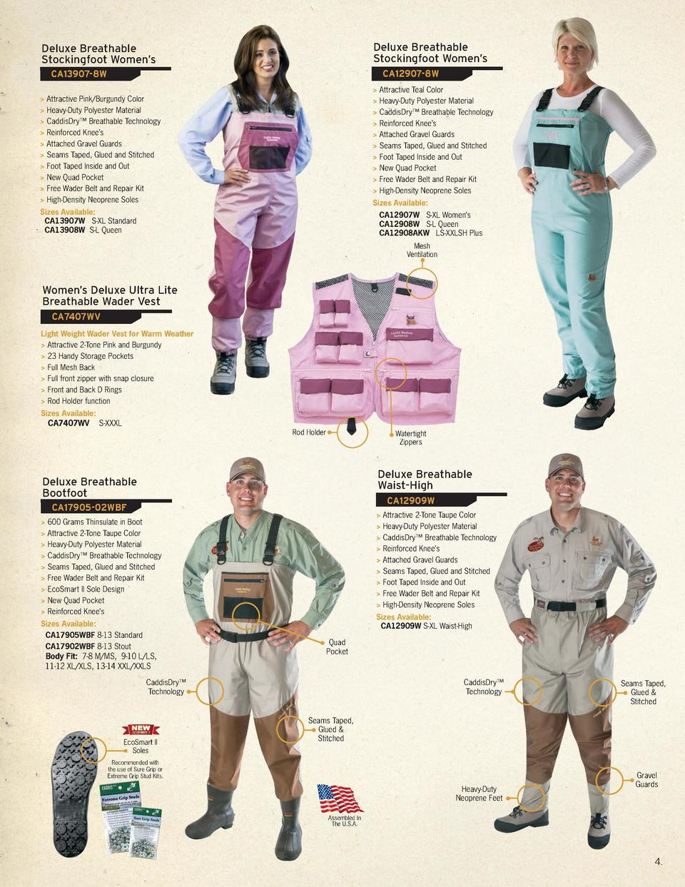 Best Selling Series of Deluxe Breathable  Waders In the world From Alaska to Montauk, New York, Caddis Waders are on the w...