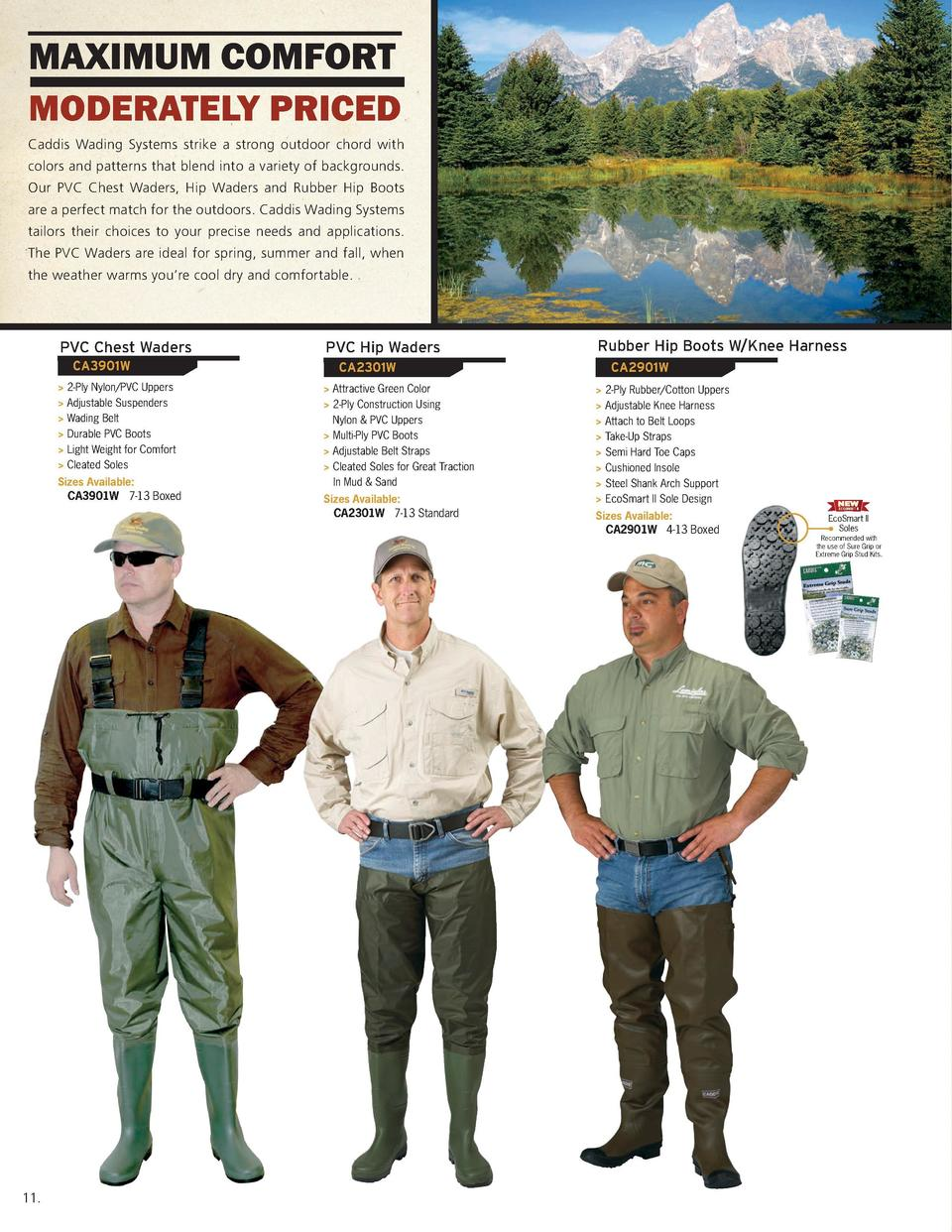 maximum comfort moderately priced  Wading Accessories  Caddis Wading Systems strike a strong outdoor chord with  1 1 2    ...