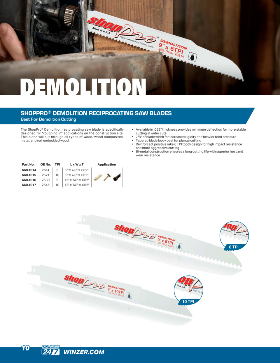 DEMOLITION SHOPPRO   DEMOLITION RECIPROCATING SAW BLADES Best For Demolition Cutting The ShopPro   Demolition reciprocatin...