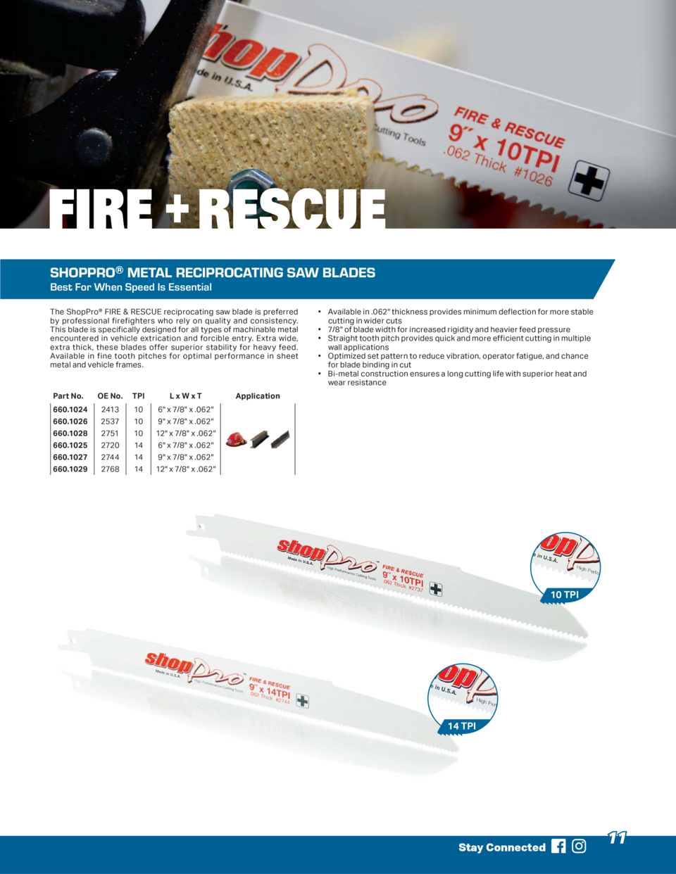 FIRE   RESCUE SHOPPRO   METAL RECIPROCATING SAW BLADES Best For When Speed Is Essential The ShopPro   FIRE   RESCUE recipr...