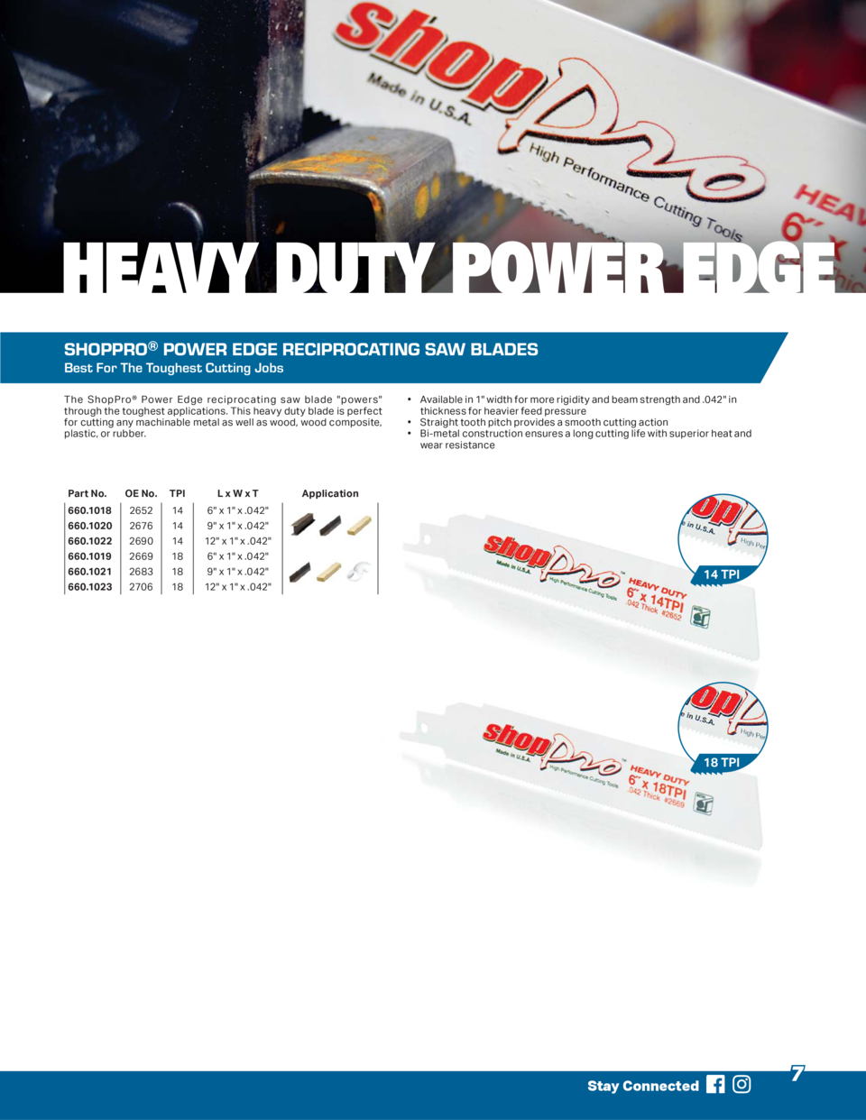 HEAVY DUTY POWER EDGE SHOPPRO   POWER EDGE RECIPROCATING SAW BLADES Best For The Toughest Cutting Jobs The ShopPro   Power...