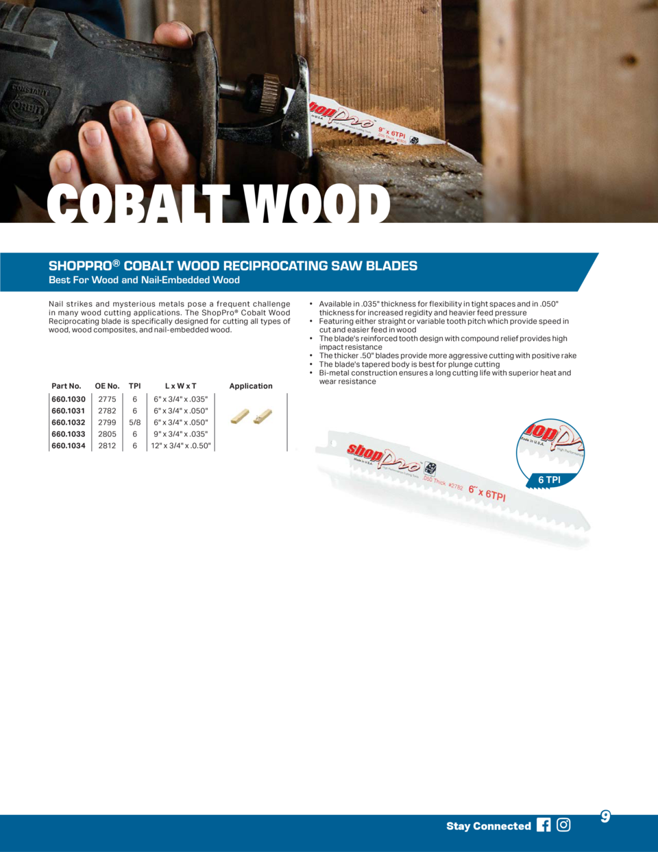 COBALT WOOD SHOPPRO   COBALT WOOD RECIPROCATING SAW BLADES Best For Wood and Nail-Embedded Wood Nail strikes and mysteriou...