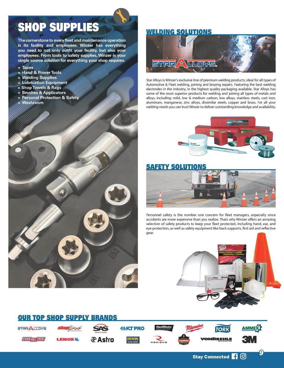 SHOP SUPPLIES  WELDING SOLUTIONS  The cornerstone to every fleet and maintenance operation is its facility and employees. ...