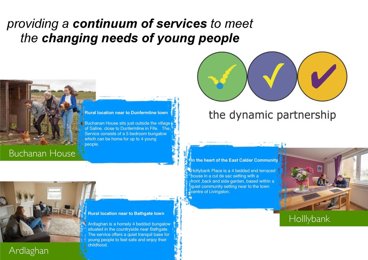 providing a continuum of services to meet the changing needs of young people  Rural location near to Dunfermline town Buch...