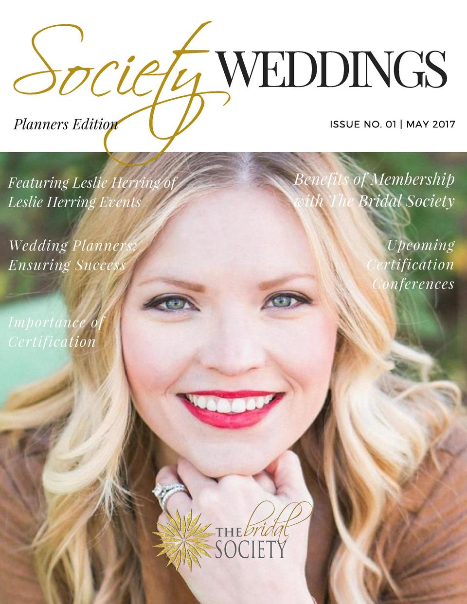 Society WEDDINGS Planners Edition  Featuring Leslie Herring of Leslie Herring Events   Wedding Planners  Ensuring Success ...