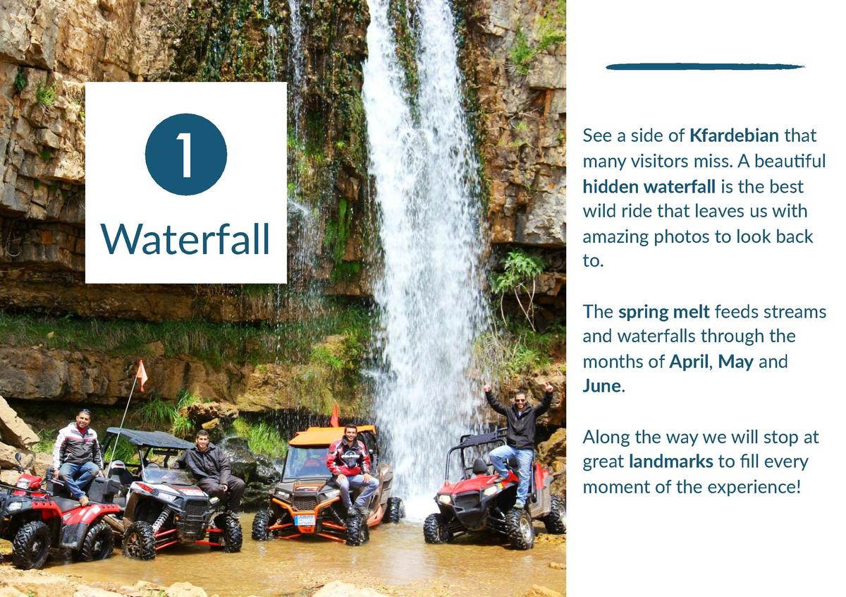 1 Waterfall  See a side of Kfardebian that many visitors miss. A beauNful hidden waterfall is the best wild ride that leav...