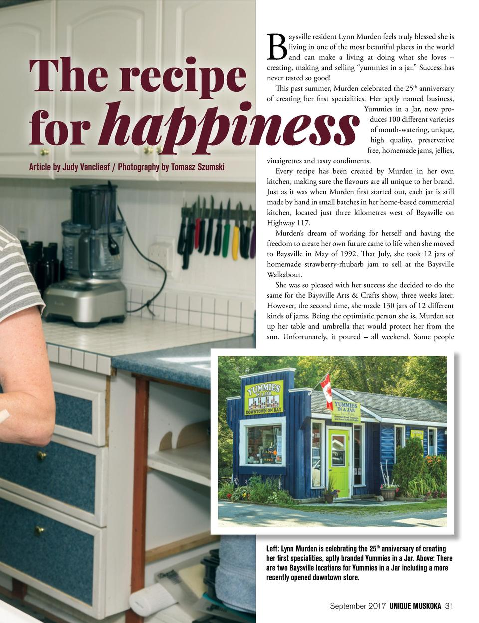 B Article by Judy Vanclieaf   Photography by Tomasz Szumski  aysville resident Lynn Murden feels truly blessed she is livi...