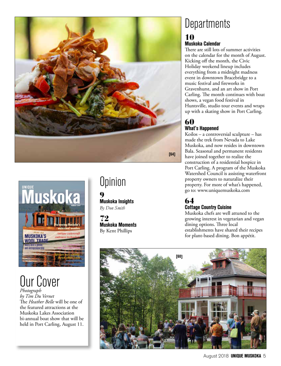 August 2018 Issue 13 Fused Wiring Recipe Vendor Departments 10 Muskoka Calendar There Are Still Lots Of Summer Activities On The For