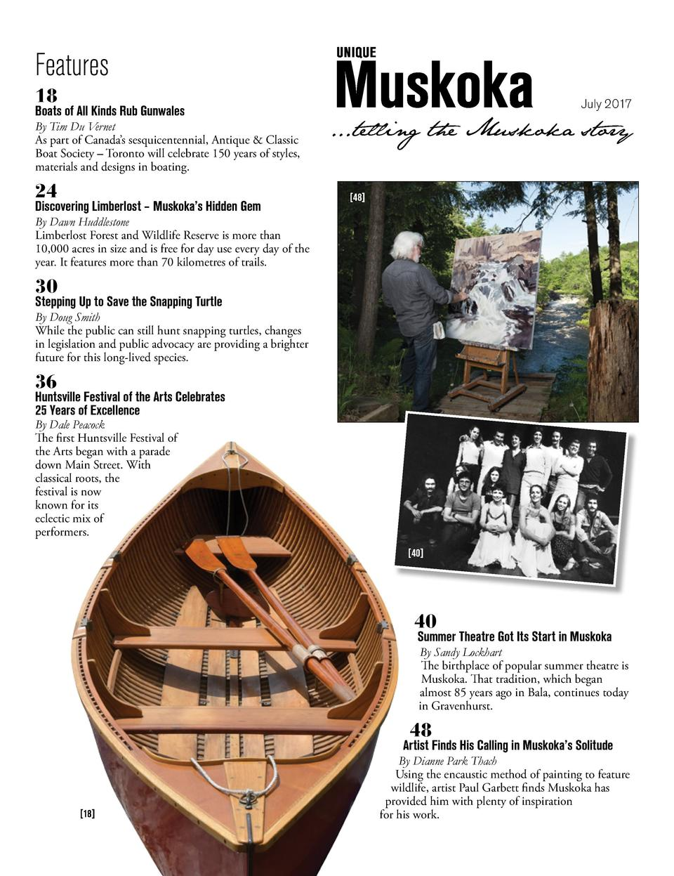 Features 18  Boats of All Kinds Rub Gunwales  By Tim Du Vernet As part of Canada   s sesquicentennial, Antique   Classic B...