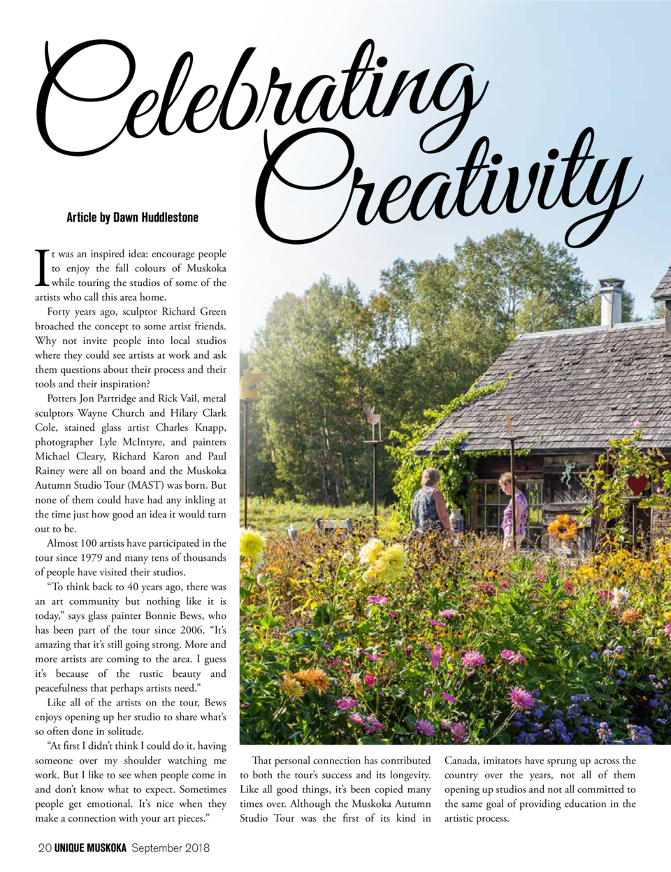 g n i t a r b e l e C y t i v i t a e r C I Article by Dawn Huddlestone  t was an inspired idea  encourage people to enjoy...