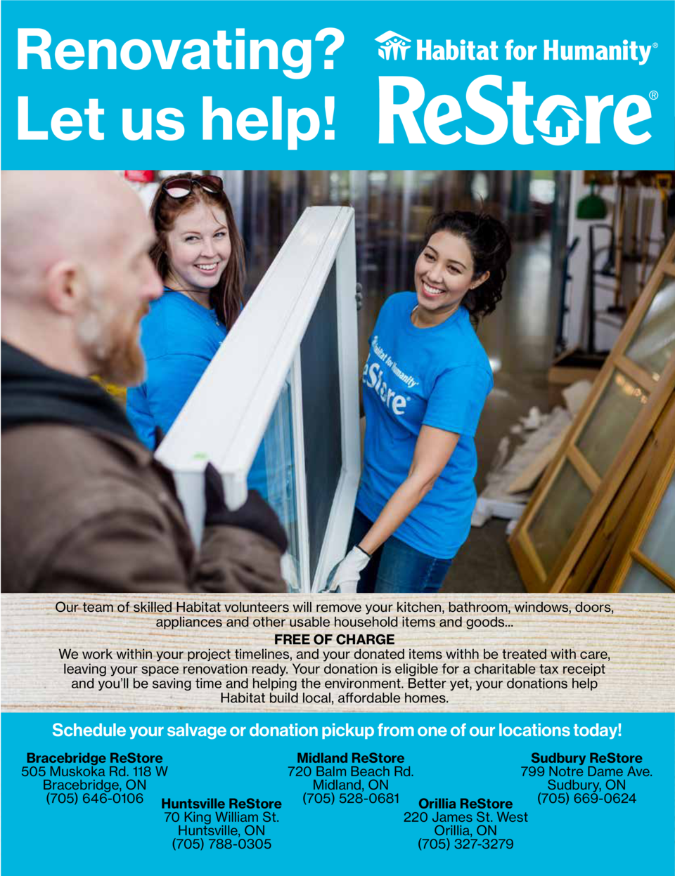Renovating   Let us help   Our team of skilled Habitat volunteers will remove your kitchen, bathroom, windows, doors, appl...