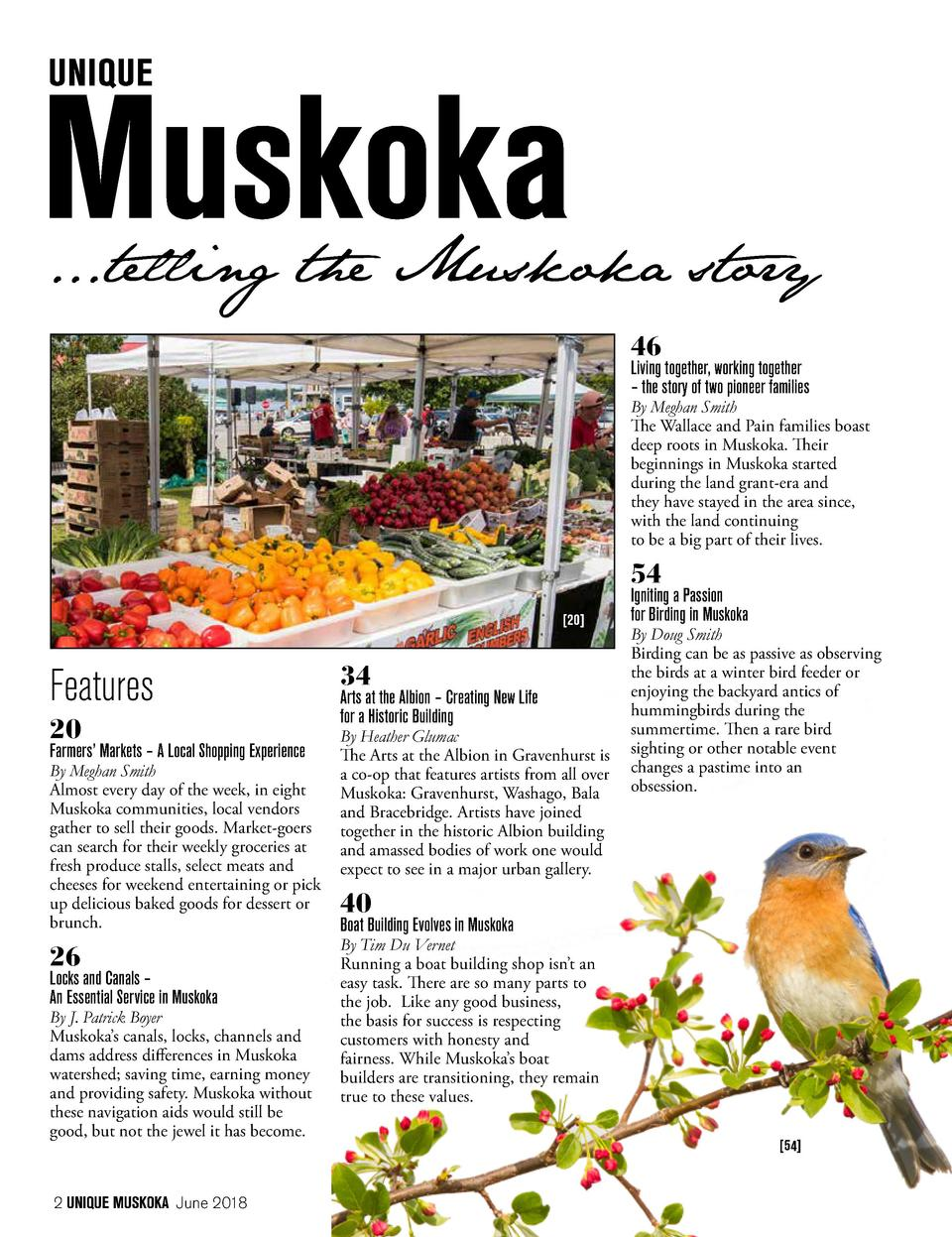 ...telling the Muskoka story 46  Living together, working together     the story of two pioneer families  By Meghan Smith ...