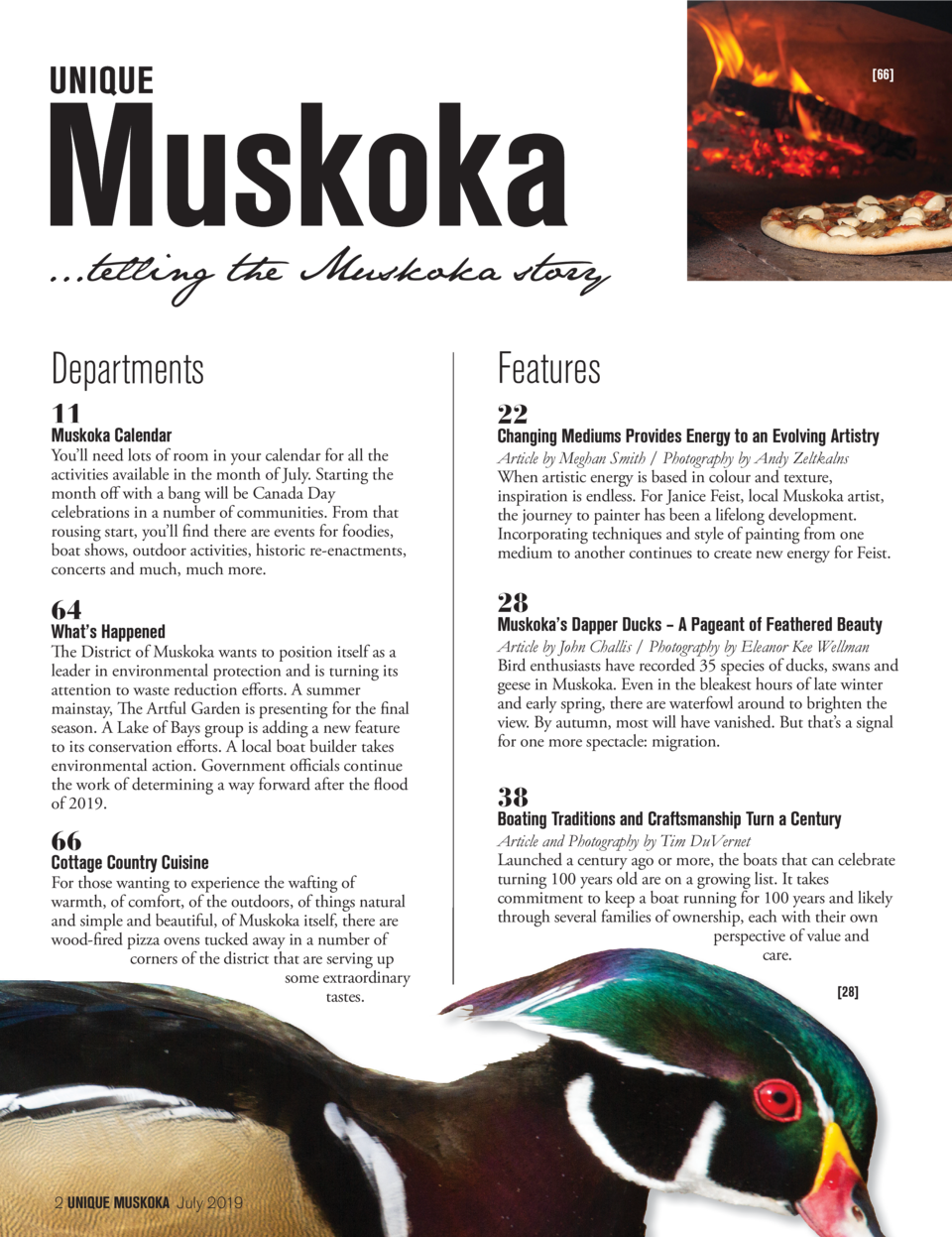 66   ...telling the Muskoka story  Departments  Features  11  22  You   ll need lots of room in your calendar for all the...