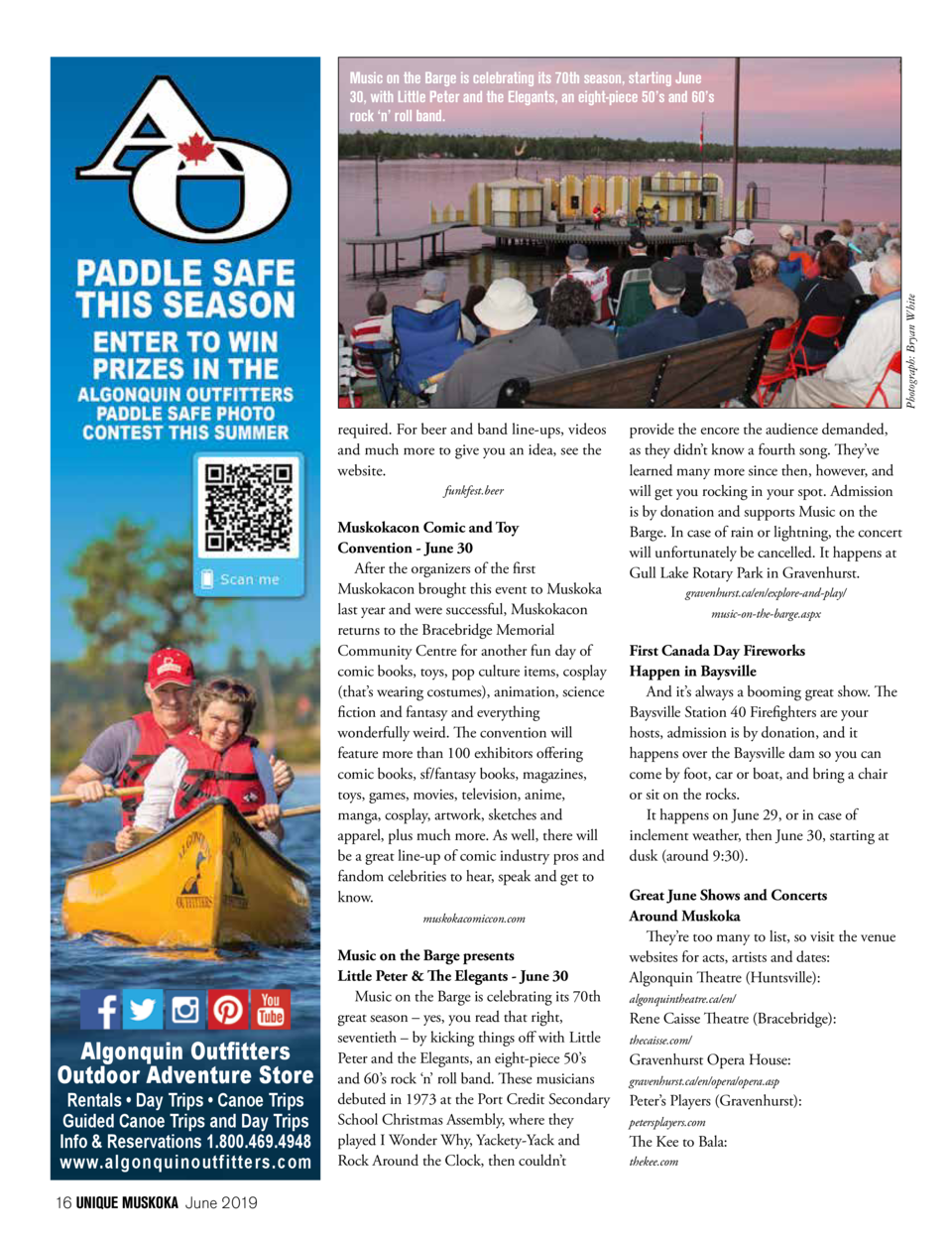 Photograph  Bryan White   Music on the Barge is celebrating its 70th season, starting June 30, with Little Peter and the E...
