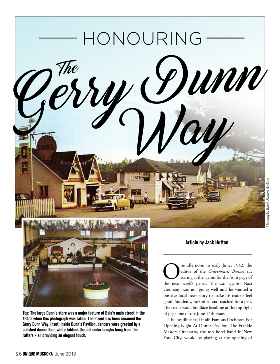 HONOURING  n n u D y r r e G Way Article by Jack Hutton  O Top  The large Dunn   s store was a major feature of Bala   s m...