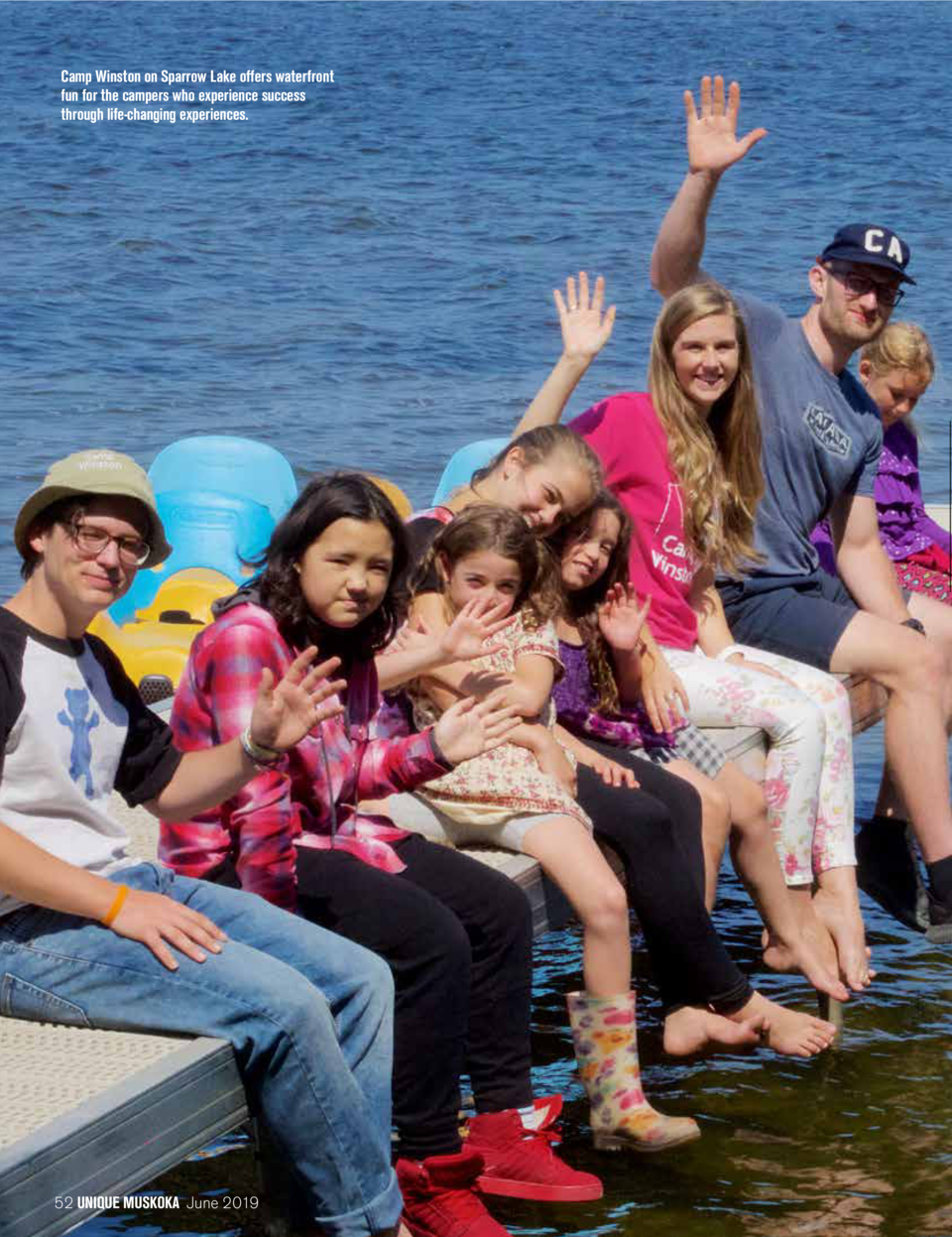 Camp Winston on Sparrow Lake offers waterfront fun for the campers who experience success through life-changing experience...