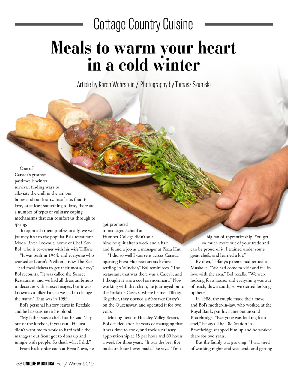 Meals to warm your heart in a cold winter Article by Karen Wehrstein   Photography by Tomasz Szumski  One of Canada   s gr...