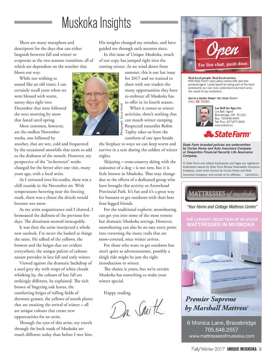 Muskoka Insights His insights changed my mindset, and have guided me through each autumn since. In this issue of Unique Mu...