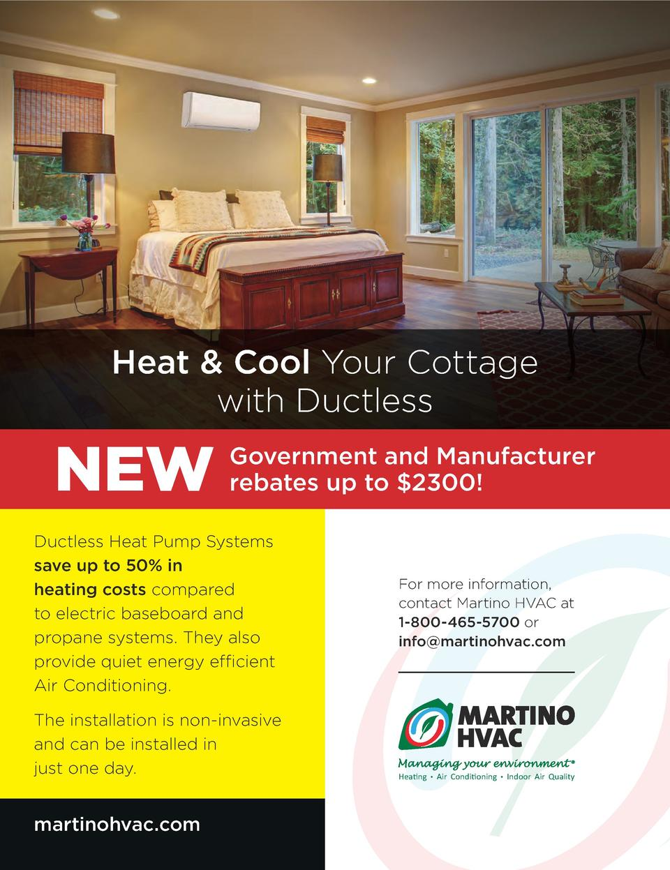 Heat   Cool Your Cottage with Ductless  NEW  Government and Manufacturer rebates up to  2300   Ductless Heat Pump Systems ...