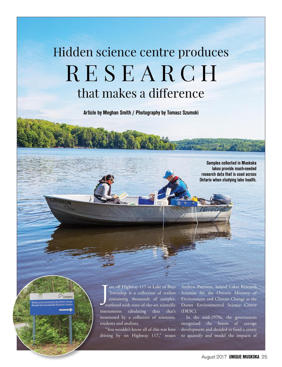 Hidden science centre produces  RESEARCH that makes a difference Article by Meghan Smith   Photography by Tomasz Szumski  ...