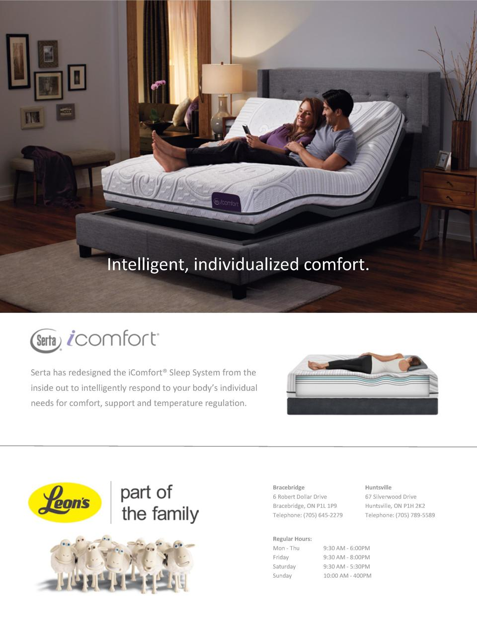 Intelligent, individualized comfort.  Serta has redesigned the iComfort   Sleep System from the inside out to intelligentl...
